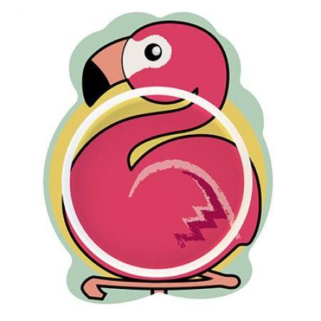 Teller für Kleinkinder mit Flamingo als Motiv
