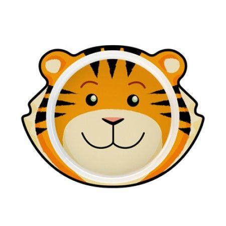 Teller für Kleinkinder mit Tiger als Motiv