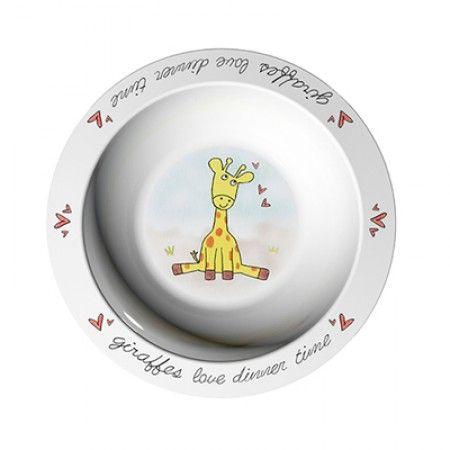 Suppenteller mit Giraffe als Motiv
