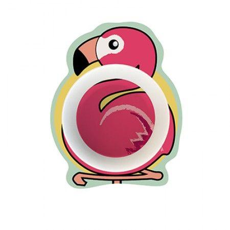 Suppenteller für Kleinkinder mit Flamingo als Motiv