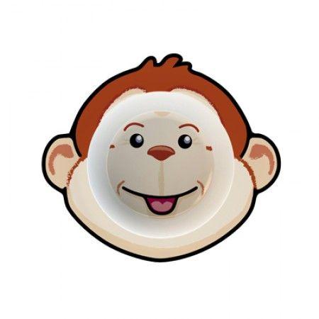 Suppenteller für Kleinkinder mit Affe als Motiv