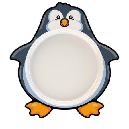 Teller für Kleinkinder mit Pinguin als Motiv